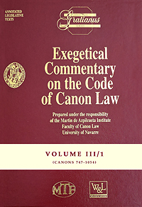 Exegetical Commentary on the Code of Canon Law - Vol. III/1