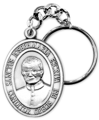 Medal of St. Josemaria Escriva Keychain