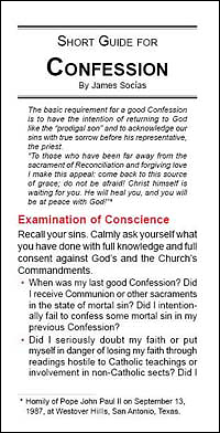 Short Guide for Confession (Pack of 100)